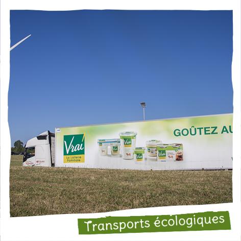 100% de notre flotte de véhicules roulent au bio-carburant à base de colza français.